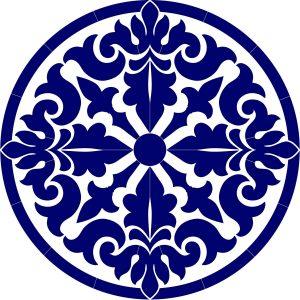 Baroque Medallion Pool Mosaics