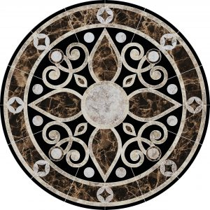 Baroque Medallion 2 Pool Mosaics