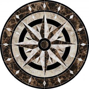 Compass Medallion Pool Mosaics