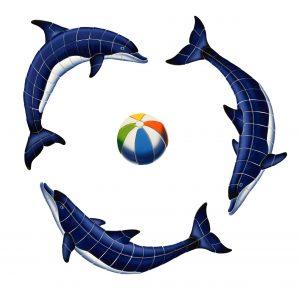 Blue Dolphin Group Pool Mosaics