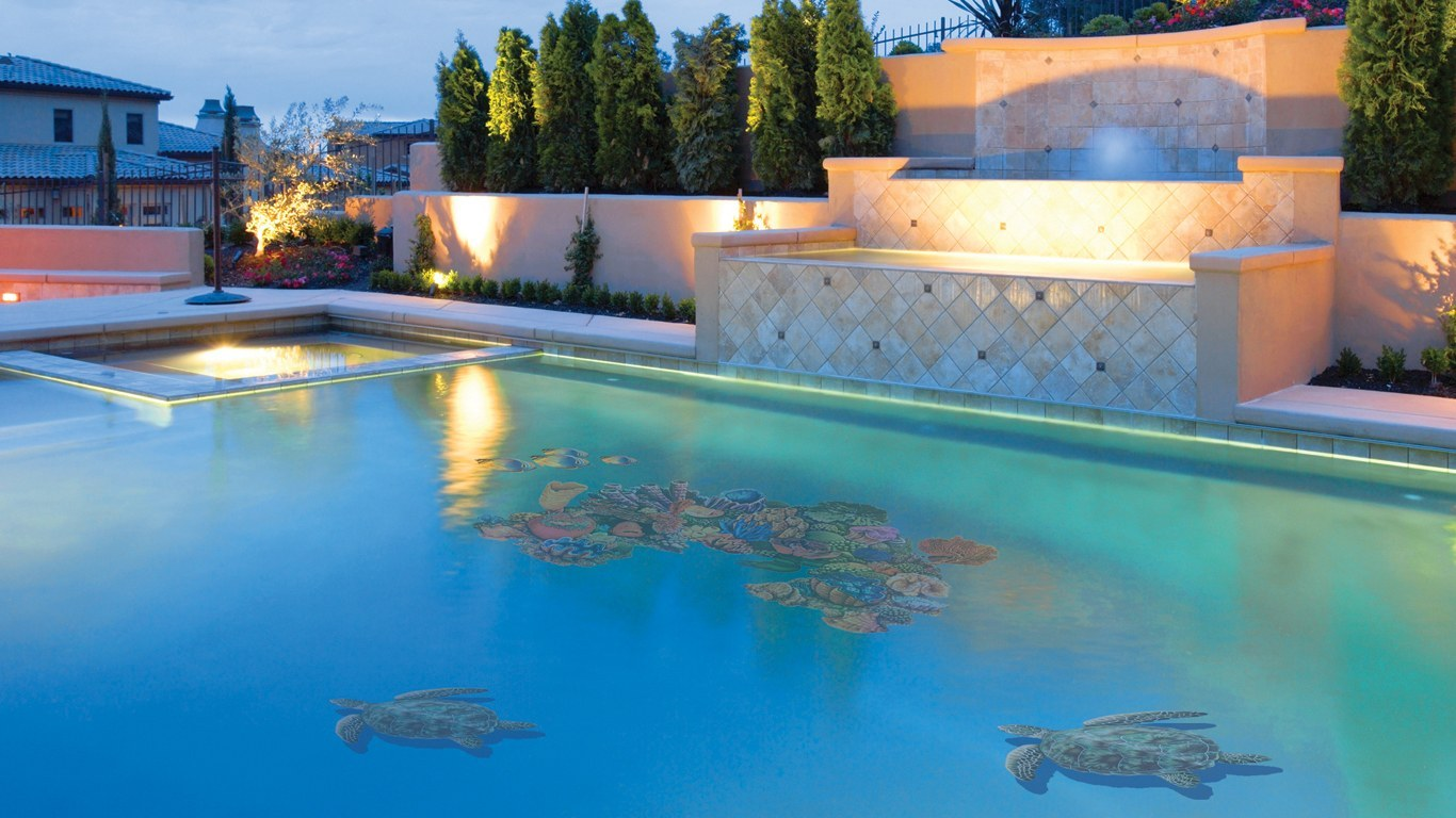 Sea Turtle Pool Mosaics