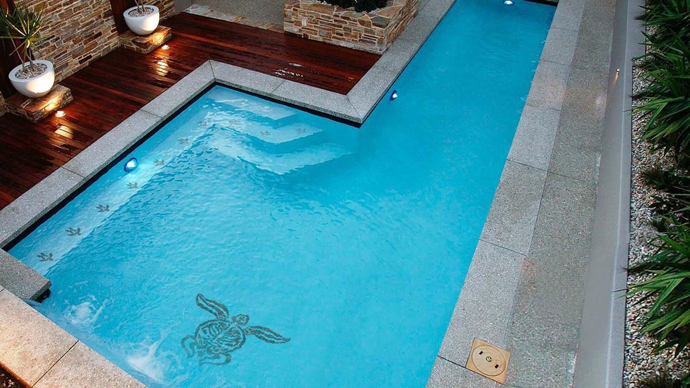 Tribal Turtle Pool Mosaics