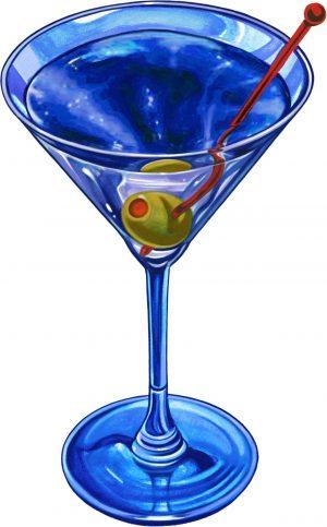 Martini Drink Pool Mosaics