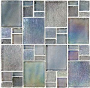 Gray Mixed (Avalon Series) Glass Pool Tile