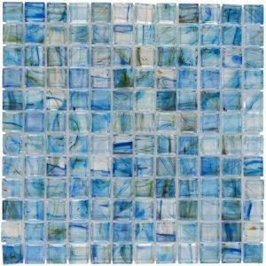 Lagoon 1″ x 1″ (Aurora Series) Glass Pool Tile