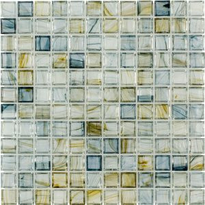 Celestial Blue 1″ x 1″ (Aurora Series) Glass Pool Tile