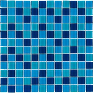 Ocean 1″ x 1″ (Architectural Colors Series) Glass Pool Tile