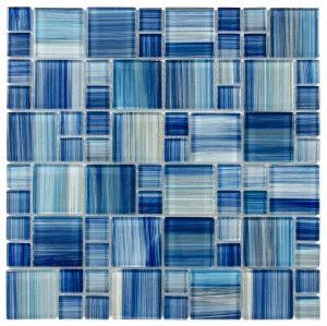 Water Brush Mixed (Artistic Brush Series) Glass Pool Tile