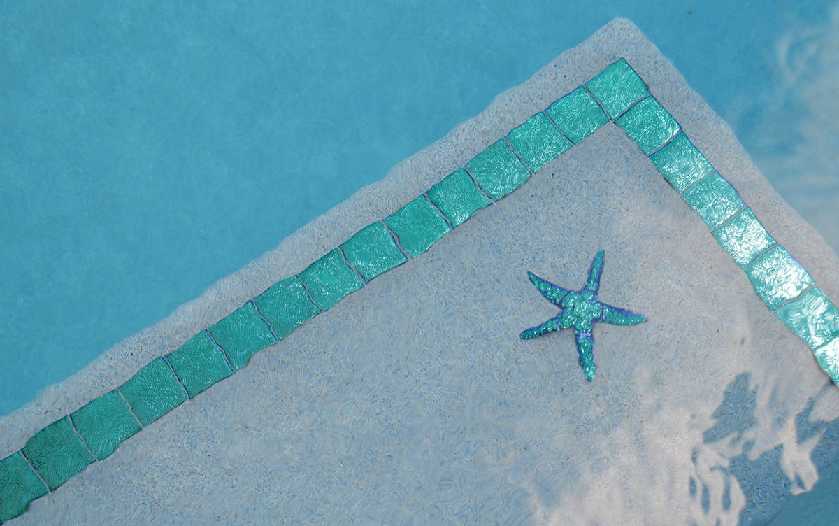 Metallic Starfish (Fusion Series) Pool Mosaics