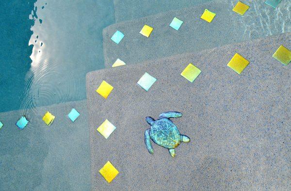 Metallic Loggerhead Turtle (Fusion Series) Pool Mosaics
