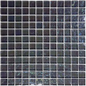 Graphite 1″ x 1″ (Galaxy Series) Glass Pool Tile