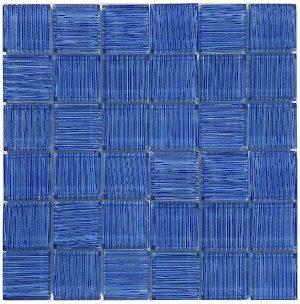 Blue 2″ x 2″ (Mirage Series) Glass Pool Tile