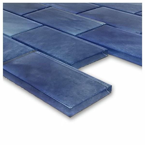 Stratus Blue 2″ x 4″ (Subway Series) Glass Pool Tile