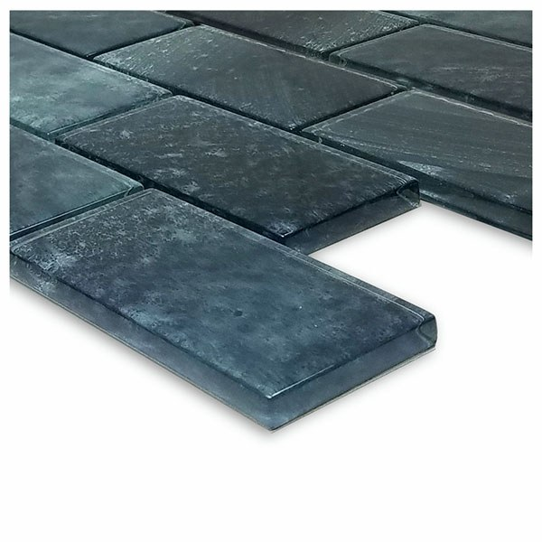 Stratus Gray 2″ x 4″ (Subway Series) Glass Pool Tile