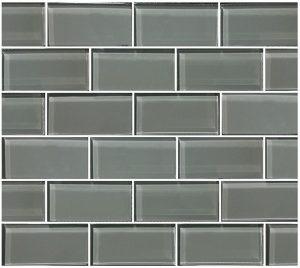 Gray 2″ x 4″ (Subway Series) Glass Pool Tile