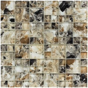 Earth Mixed (Michelangelo Series) Glass Pool Tile