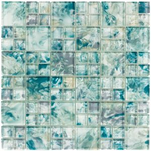 Turquoise Mixed (Michelangelo Series) Glass Pool Tile