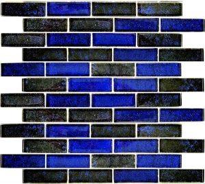 Azure Cobalt Black 1″ x 3″ (Nightfall Series) Glass Pool Tile