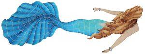 Swimming Mermaid Pool Mosaics