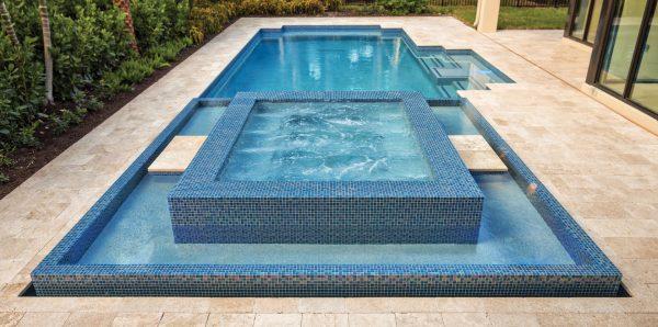 Azure 1″ x 1″ (Twilight Series) Glass Pool Tile