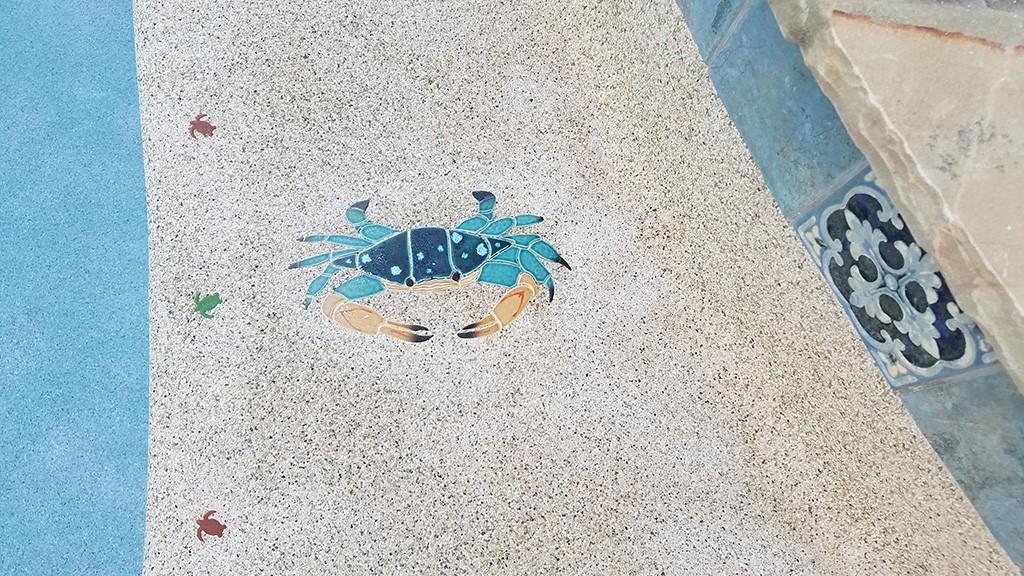Blue Swimmer Crab Pool Mosaics