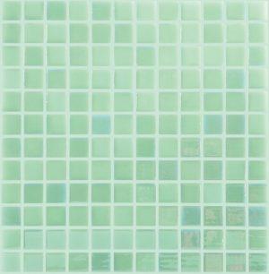 White / Green 1″ x 1″ (Glow Glass Series) Glass Pool Tile
