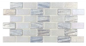 Silver 1″ x 2″ (Illusions Series) Glass Pool Tile