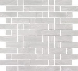 Pearl White Mixed (Dash Series) Glass Pool Tile