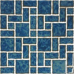 Atlantic Green Mixed (Reflection Series) Porcelain Pool Tile