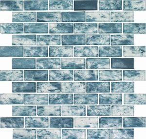 Anguilla 1″ x 2″ (Rain Series) Glass Pool Tile