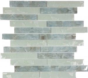 Whites Blend 1″ x 6″ (Flower Glass Series) Glass Pool Tile
