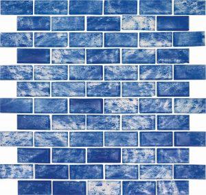 Barbados 1″ x 2″ (Rain Series) Glass Pool Tile