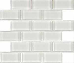 Pure White 2″ x 4″ (Pure White Series) Glass Pool Tile