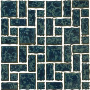 Gulf Blue Mixed (Reflection Series) Porcelain Pool Tile