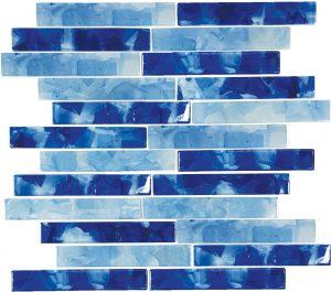 Pool Blend 1″ x 6″ (Flower Glass Series) Glass Pool Tile