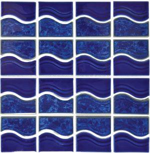 Lake Blue Mosaic (Waterside Series) Porcelain Pool Tile