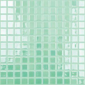 Aqua / Green 1″ x 1″ (Glow Glass Series) Glass Pool Tile