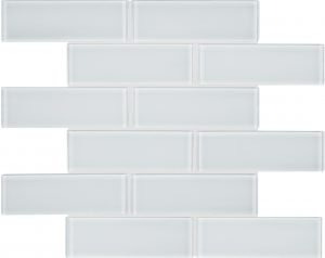 Ice 2″ x 6″ (Element Series) Glass Pool Tile