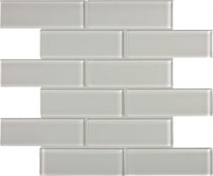 Mist 2″ x 6″ (Element Series) Glass Pool Tile