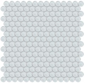 Ice Penny Round (Element Series) Glass Pool Tile