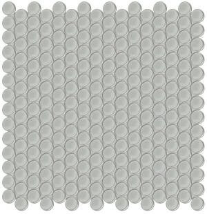 Mist Penny Round (Element Series) Glass Pool Tile
