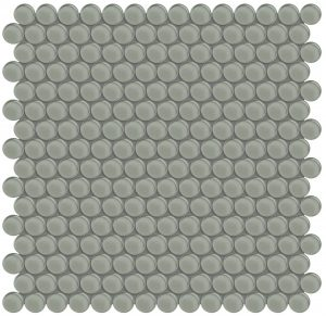 Smoke Penny Round (Element Series) Glass Pool Tile