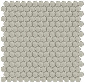 Earth Penny Round (Element Series) Glass Pool Tile