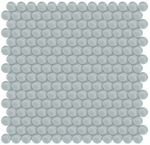 Cloud Penny Round (Element Series) Glass Pool Tile