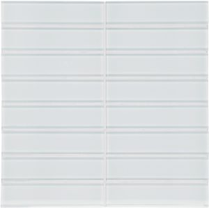 Ice 1.5″ x 6″ Stacked (Element Series) Glass Pool Tile