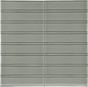 Smoke 1.5″ x 6″ Stacked (Element Series) Glass Pool Tile