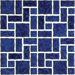 Pacific Blue Mixed (Reflection Series) Porcelain Pool Tile