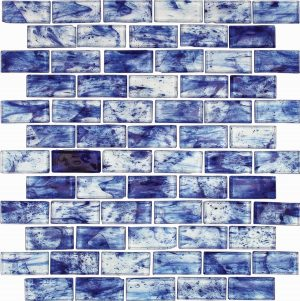Caicos 1″ x 2″ (Rain Series) Glass Pool Tile