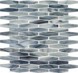 Biscay Long (Peloton Series) Glass Pool Tile