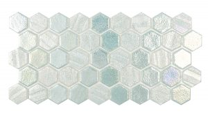 Green 1″ x 1″ Hex (Illusions Series) Glass Pool Tile